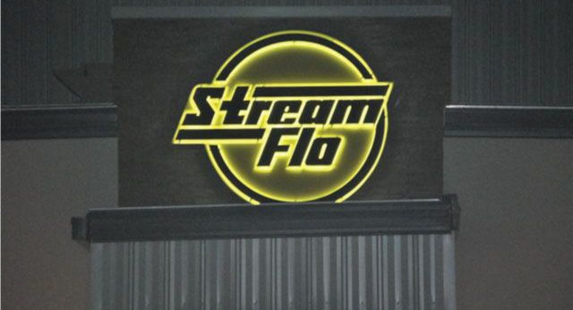 StreamFlo - backlit sign