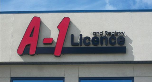 A-1 License - exterior sign