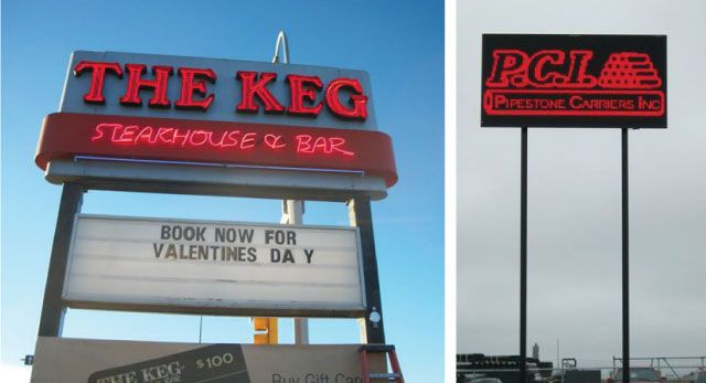 The Keg - Outdoor Pillar Sign