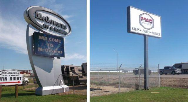 Dependable Pylon Signage in Grande Prairie