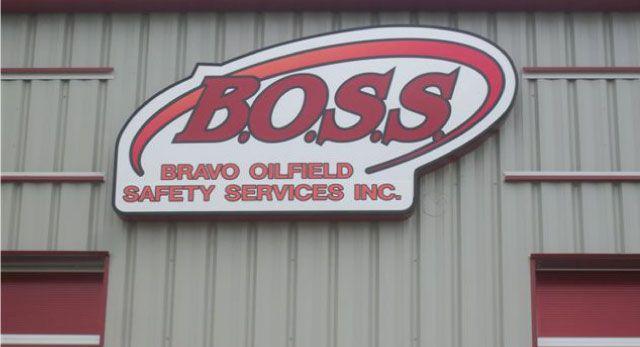 BOSS - outdoor building sign
